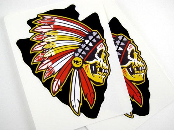 Cool Kansas City Chiefs Vinyl Stickersperfect By