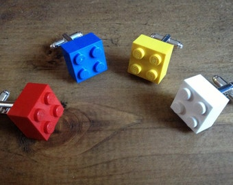 Lego Cufflinks, Choose from the 15 colours so far, choose your favourite!