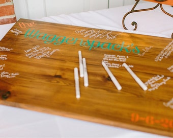 CUSTOM Wedding Guest Book, Wood Guest Book, Guestbook, Alternative