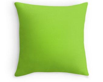 Lime Green Pillow, Lime Green Toss Pillow, Green Toss Pillow, Lime Green Bedding, Green Throw Pillow, Lime Green Pillow Cover, Lime Green
