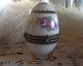 French porcelain faberge style egg