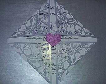 Elegant Wedding Invites Laser Cut
