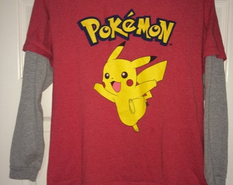 Sale!! Vintage POKEMON long sleeve tee shirt