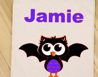 Personalized Trick or Treat Bag- Candy Bag - Halloween - Bat