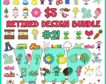 VIP Format *NEW #2* Lynnie Pinnie Retired Designs VIP format -- 65 applique and embroidery designs!