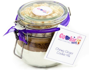 Cookie Mix Jar - Chewy Ginger Cookie Mix - to make up to 16 delicious freshly baked cookies