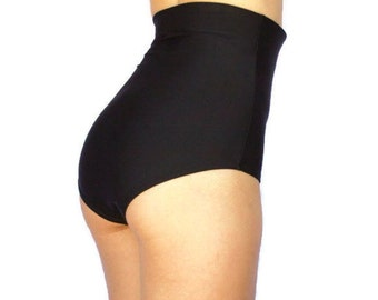 High Waisted Booty Shorts Black