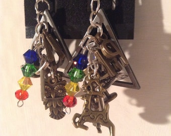 Harry Potter Inspired Dangle Earrings, Harry Potter Earrings