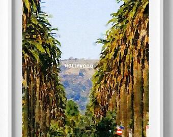 Hollywood print,Hollywood painting,watercolor,Wall Art, Home Decor, Pic no 84