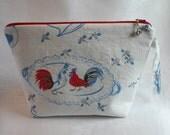 Vintage Rooster Project Bag