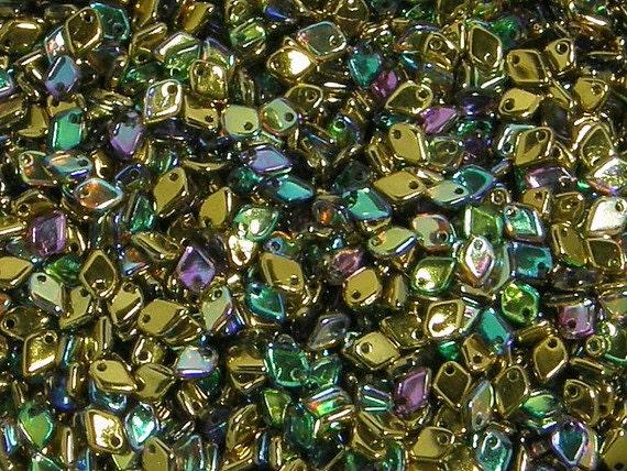 Dragon Scale Bead Crystal Golden Rainbow DRG398536 5