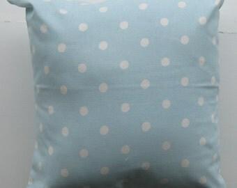 Blue / White Spot Cushion Cover (Cath Kidston Fabric)