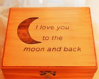 Wooden Box; Trinket Box; Wood Keepsake Box; Jewelry Wood Box; Treasure Box; Memory Box; 5th Anniversary Gift; Valentines Day Gift