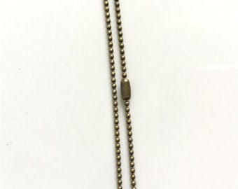 10pcs Antique  bronze  Ball Chain 1.2mm