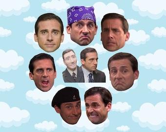 "Michael Scott Expressions Sticker Pack 8 ct 2 x 1.5"" - The Office Tv - Office Michael - Office Tv Show - Michael Scott - The Office Tv Gift"