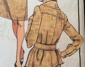 Vogue Paris Original Gorgeous and Flattering Cinched Waist Jacket, Skirt and Blouse Pattern by Christian Dior 2908