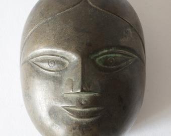 Antique 19th century Indian bronze cosmetics box