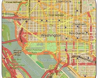 Washington DC Vintage Map Coasters
