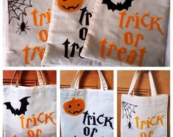Halloween Bag, Trick or treat bag, Trick or treat, Halloween, Tote bag
