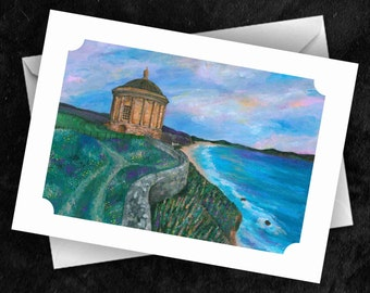 Mussenden Temple - 7x5 Folded Greeting Card