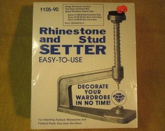 Rhinestone and stud setter,for setting flatback rhinestones and flatback pearls 5 - 8 mm, made in Taiwan