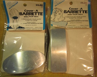 2 cover-a-barrettes EZ do it yourself, for covering in your fabric