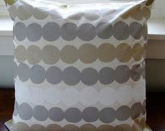 Handmade Marimekko Rasymatto silver white gold SATIN pillow case, many sizes, Finland
