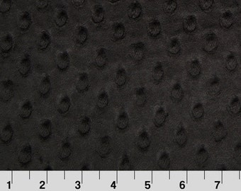 Dimple Dot Minky Cuddle in Black from Shannon Fabric