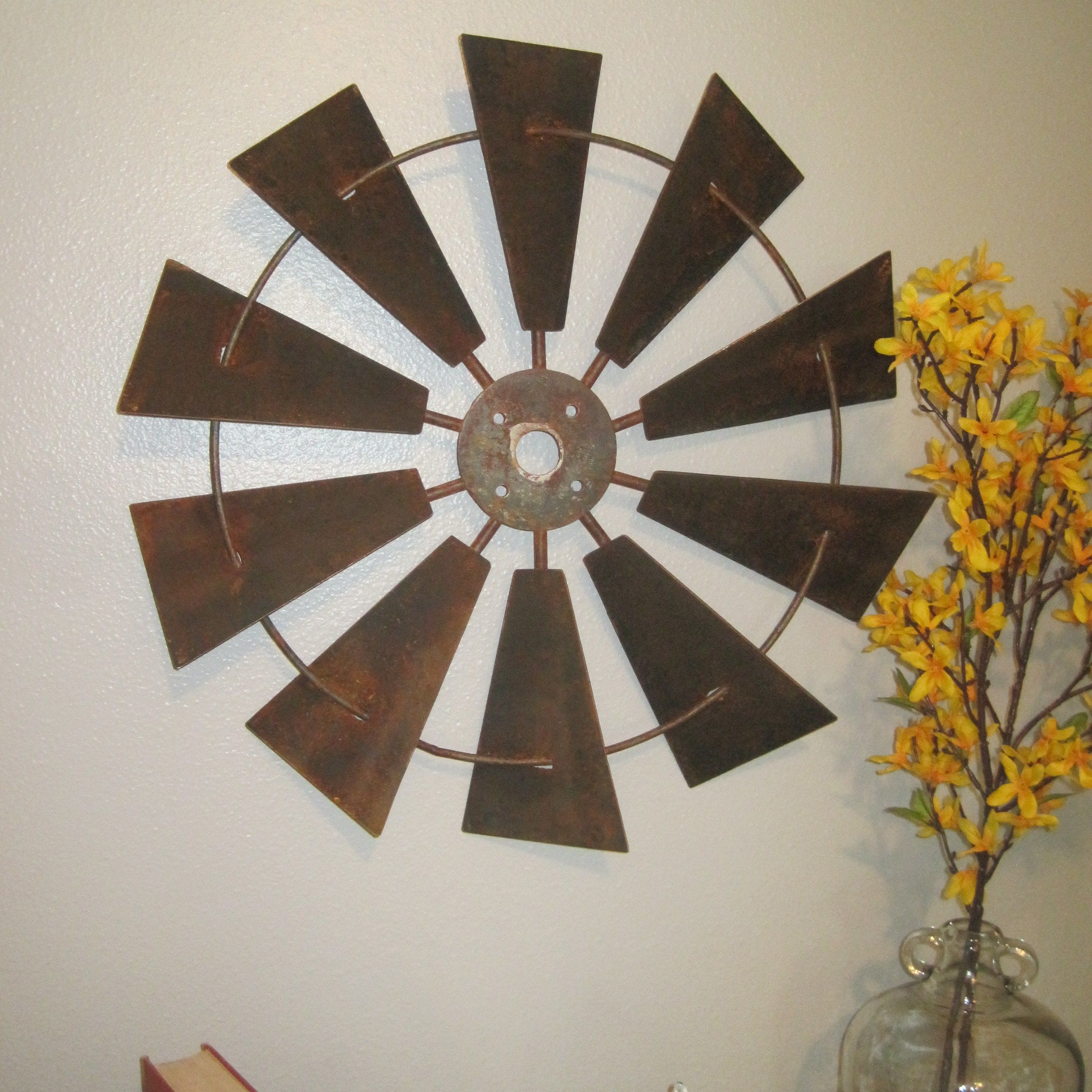 24 rustic windmill head wall decor rustic farmhouse request a custom order and have something made just for you amipublicfo Gallery