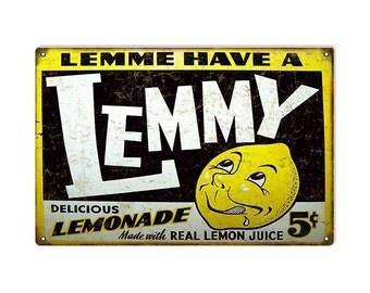Reproduction Vintage Lemonade Juice Sign