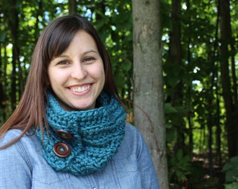 Crochet Chunky Cowl Infinity Scarf - The Maple