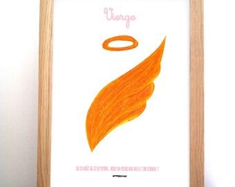 Poster astrological sign of Virgo