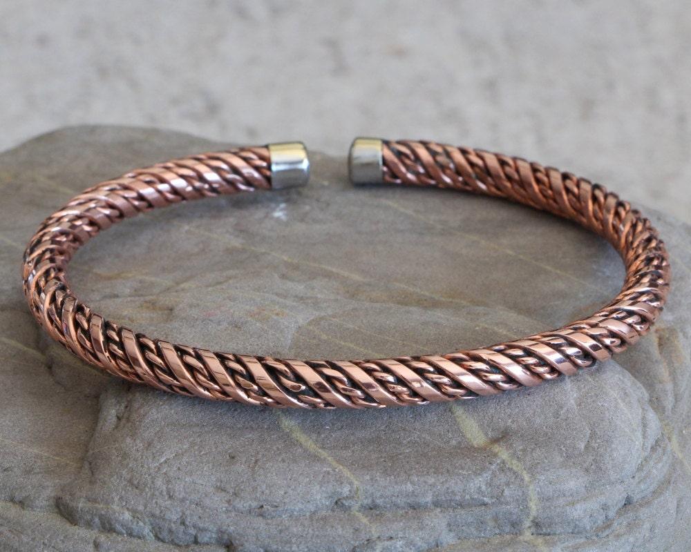 men 39 s copper bracelet bangle copper cuff bracelet. Black Bedroom Furniture Sets. Home Design Ideas