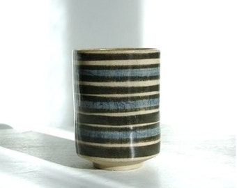 Striped glass vintage terracotta style 60 years.