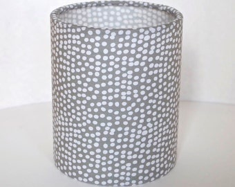 Lantern Night Light in Grey Flurry Fabric - Safe Battery Operated Tea Light