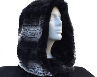 Mixed Black & White Faux Fur