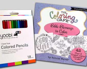 The Coloring CafeTM Bible Blessings To Color Book For Grown Ups Adult