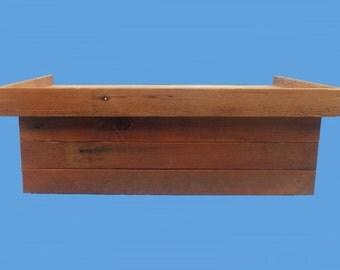 hidden drawer floating shelf,reclaimed wood hidden drawer shelf-155