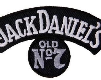 Jack Daniels Small Rocker Silver Old No.7 Vintange Worn Like Style Motorcycle Biker Vest Patch