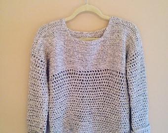 Lilly Pullover  Crochet Pullover   Crochet Sweater   Handmade Sweater   Beach Sweater   Crochet Warm Sweater  