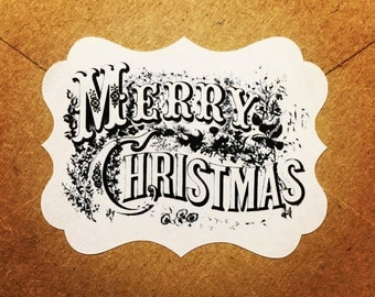 Merry Christmas Stickers / Seals Qty: 30 Stickers