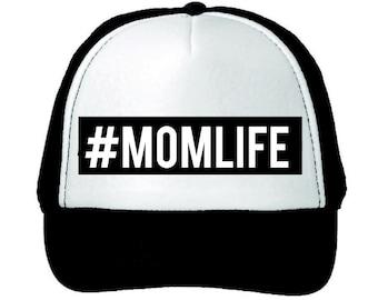 The #MOMLIFE Trucker Hat, Mom Life Hat, #MOMLIFE Hat, Mom Life Hat, Maternity Gift, Baby Shower Gift, Pregnancy Gift, Baby Shower