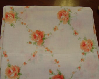 Pillowcase/Shabby Chic/Cabbage Roses/Vintage