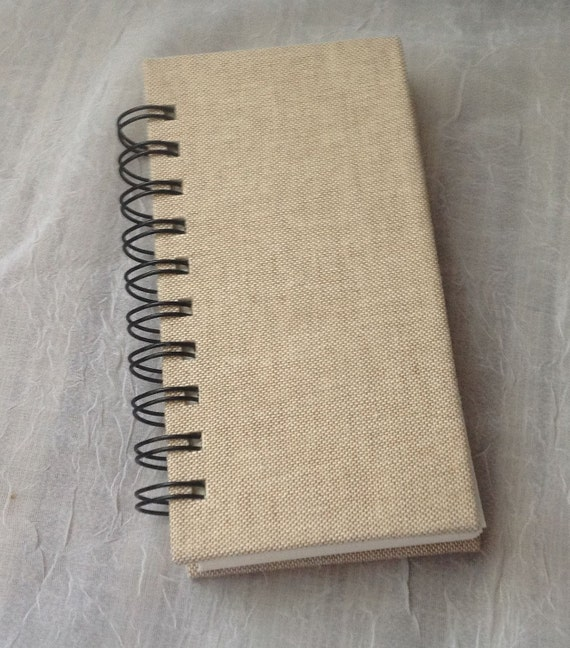 Linen Book Cover Material : Hard cover beige cotton linen book cloth wiro bound pocket