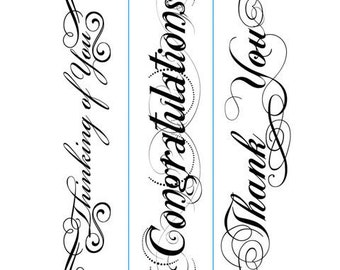 NEW Embossing Folder PHRASES Thinking You Congratulations Thank You By Darice #1217-78
