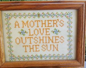 A mother's love cross stitch