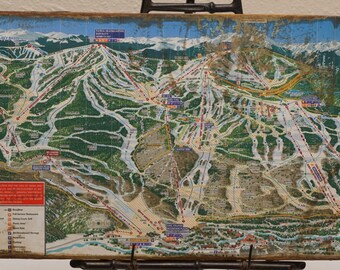 Antiqued Vail Ski Trail Map