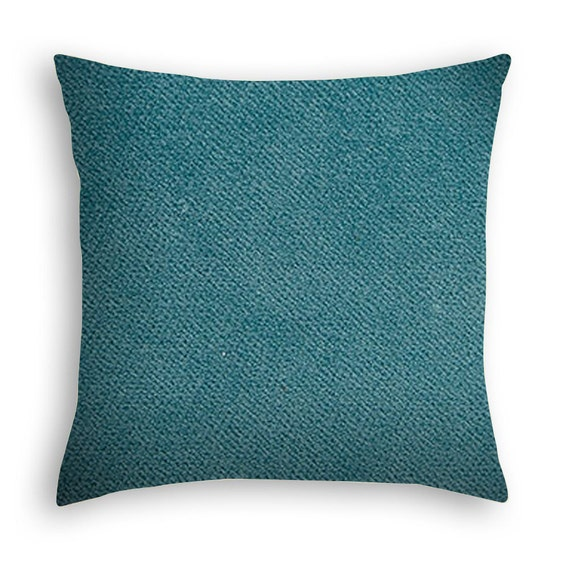 Velvet Decorative Pillow Covers : Aqua Blue Velvet decorative pillow cover. by DcoraPillows on Etsy