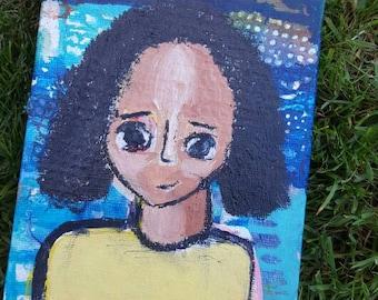 Original 5x7 Portrait- blue