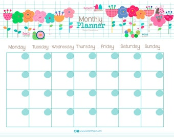 planner mensual / month planner TWO: SPANISH & ENGLISH